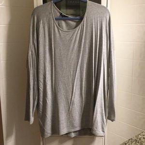 Beautiful stretchy grey tunic with fancy design